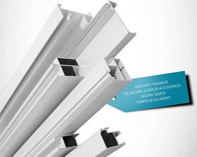 Perfil de Alumínio e Componentes para Esquadrias