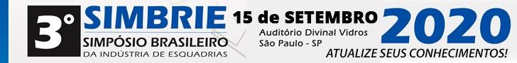 3º SIMBRIE - Simpósio Brasileiro da Indústria de Esquadrias (15 de Setembro 2020)